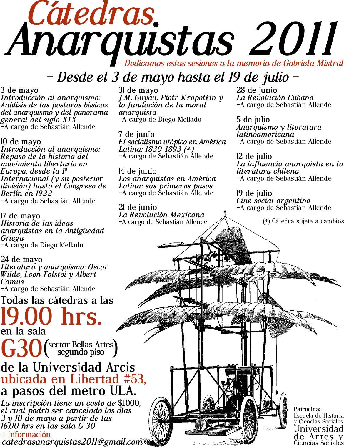 Cátedras Anarquistas 2011